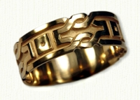 18kt yellow Sculpted Shelbourne Knot Bands