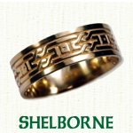 Shelborne Knot Celtic Wedding Rings