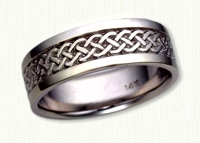 14Kt white gold Celtic Simple Braid Band