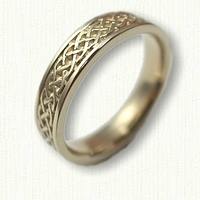 14kt Yellow Gold Celtic Simple Braid Knot Wedding Band