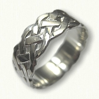 Celtic Simple Braid Wedding Band - Sculpted