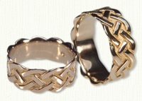 14kt yellow gold Sculpted Simple Braid Wedding Band