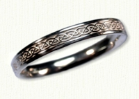 14kt white gold Narrow 'S' Loop Knot Wedding Band