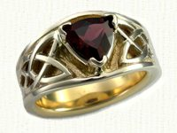 Tapered Circle Loop Celtic Ring with Cross