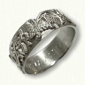 Triangle and Thistle band - NO RAILS - sterling silver