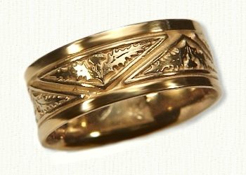 Celtic Thistle Knot Wedding Rings by deSignet best prices quality
