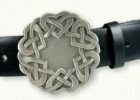 Celtic Threaded Heart Knot Belt Buckle