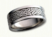 14kt white gold Tralee Knot Wedding Band