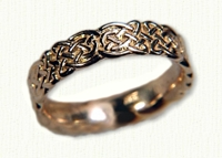 14kt yellow gold Sculpted Tralee Knot  Wedding Band