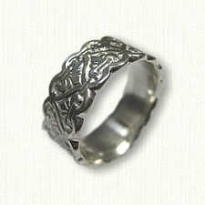 Sterling Silver Celtic Tramore Knot Wedding Band-8.0 mm width