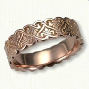 14kt Rose Gold Sculpted Tramore Band