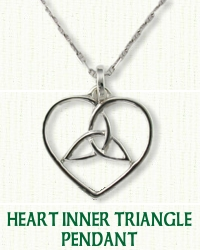 Celtic Heart/Inner Triangle Pendant
