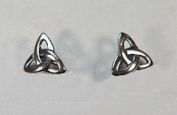 Triangle Knot Post Earrings