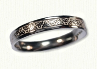 14kt white gold Narrow Triangle Knot Wedding Band