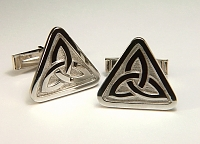 Triangle Knot Cuff Links