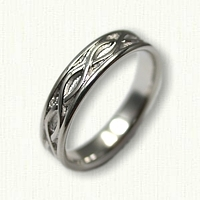 14kt Two Tone Gold Celtic Two Strand Knot Wedding Band