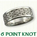 6 Point Knot Celtic Wedding Bands