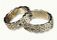 14kt yellow Sculpted Wexford Knot Band