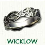 Wicklow Knot Celtic Wedding Bands